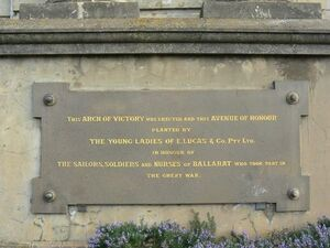 The Avenue of Honour Ballarat Arch of Victory - 1 WAGS