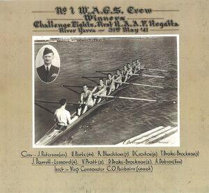 1 WAGS Winning Rowing team