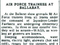 Air Force trainees at Ballarat Courier 31st May 1940