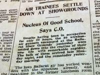 Air Trainees settle down at showgrounds Courier May 1st 1940