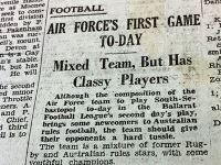 Airforces 1st game - Courier May 18th 1940
