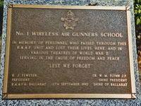 No. 1 Wireless Air Gunners School Plaque