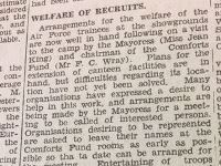 Welfare of Recruits Courier 1940