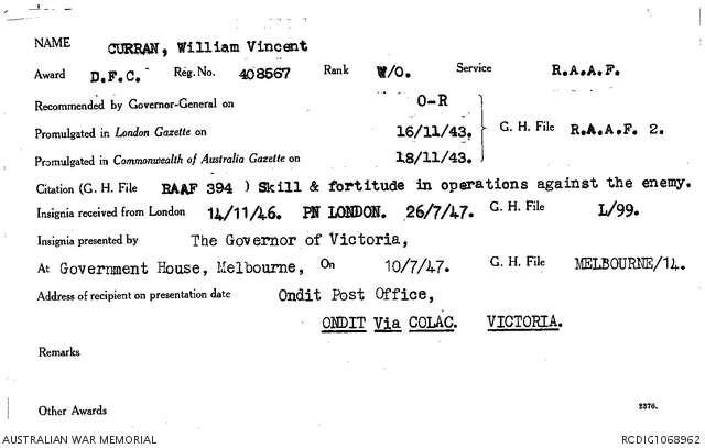 1 WAGS - CURRAN William Vincent - 408567 Citation