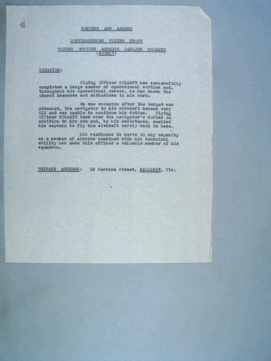 1 WAGS - HOLGATE Merrick Sadlier - 400117 Citation