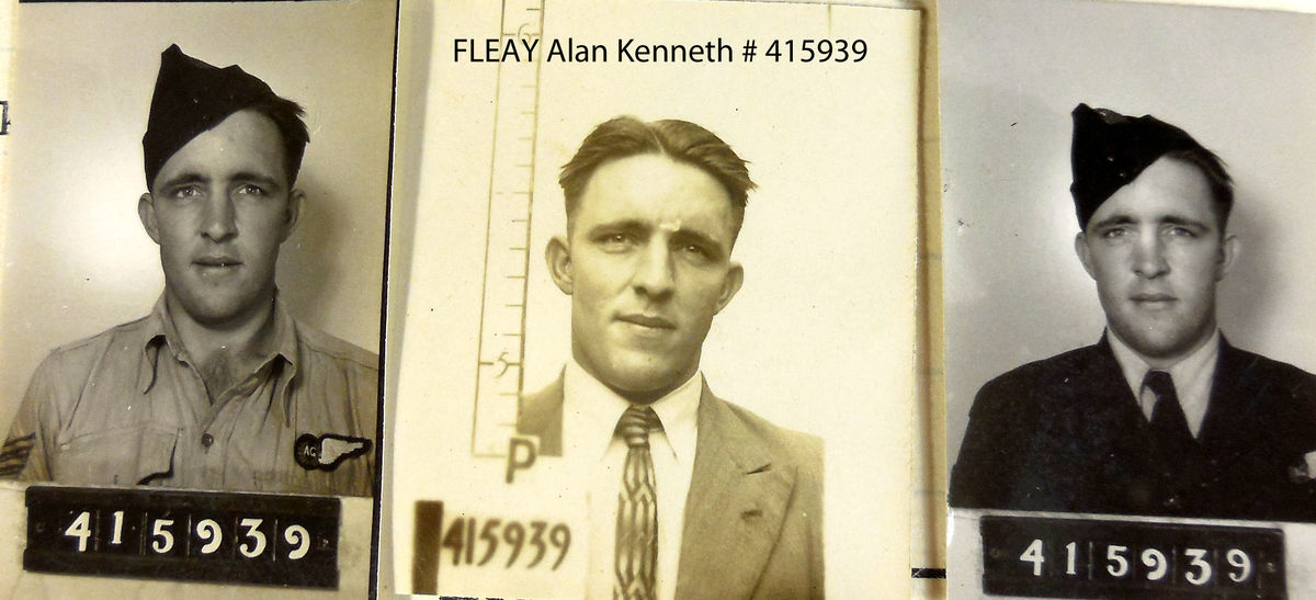 1WAGS - FLEAY Alan Kenneth - Service Number 415939 (Enlistment photo)