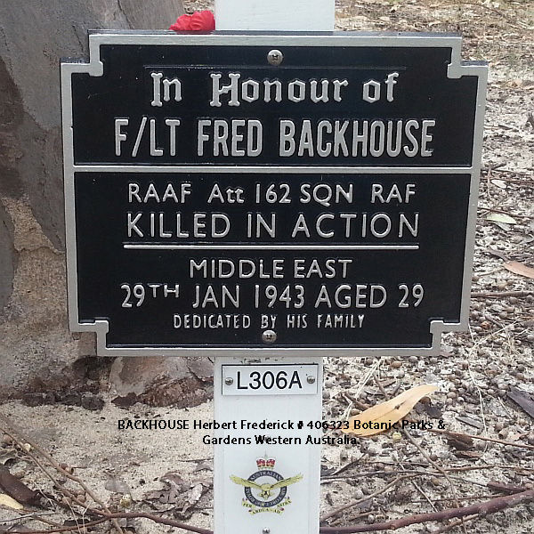 1WAGS - BACKHOUSE Herbert Frederick - Service Number 406323 (Plaque_edited-1)
