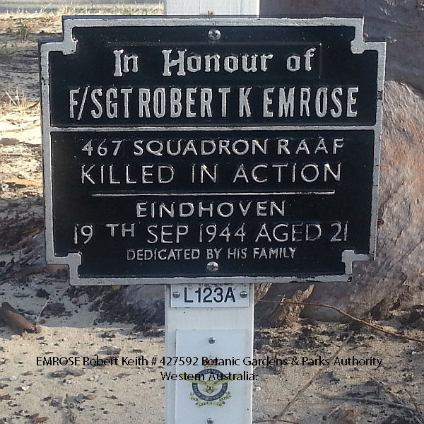 1WAGS - EMROSE Robert Keith - Service Number 427592 (plaque_edited-1)
