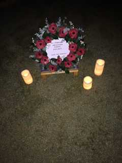 1 WAGS Wreath 2020 drive-way dawn service