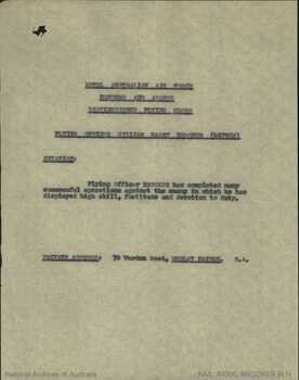 BROOKER [DFC], William Harry - Service Number 407982 | 1WAGS Ballarat