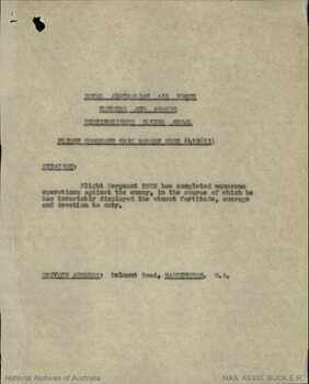 BUCK [DFM], Edric Robert - Service Number 415613 | 1WAGS Ballarat