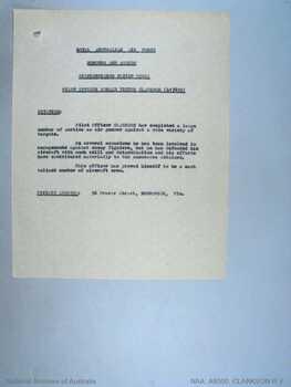 CLARKSON [DFC], Ronald Victor - Service Number 417805 | 1WAGS Ballarat