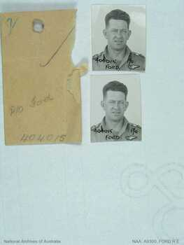 FORD [DFM], Robert Edgar - Service Number 404015 | 1WAGS Ballarat