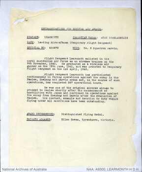LEARMONTH [DFM], Hugh Douglas Haig - Service Number 400879 | 1WAGS Ballarat