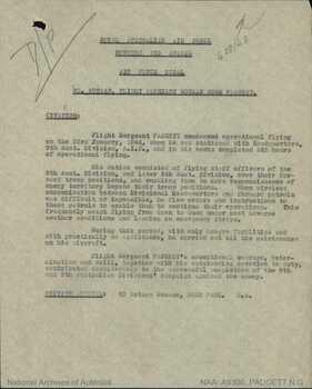 PADGETT [AFM], Norman Gunn - Service Number 408148 | 1WAGS Ballarat