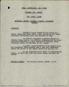 SHEARDOWN [AFC], Charles Douglas - Service Number 402213 | 1WAGS Ballarat