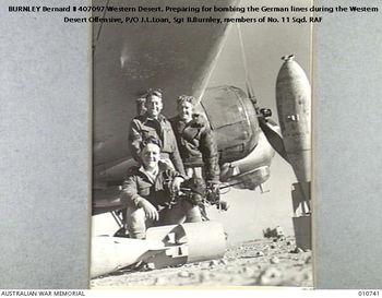 BURNLEY  [DFC], Bernard - Service Number 407097 | 1WAGS Ballarat