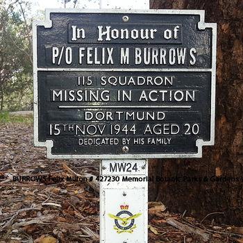 BURROWS, Felix Milton - Service Number 427230 | 1WAGS Ballarat