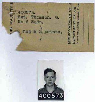 THOMSON, Gordon - Service Number 400573 | 1WAGS Ballarat