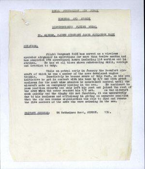 NASH [DFM], James Alexander - Service Number 410368 | 1WAGS Ballarat