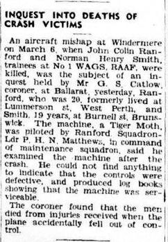 RANFORD, John Colin - Service Number 436932 | 1WAGS Ballarat