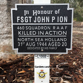 ION, John Parr - Service Number 427833 | 1WAGS Ballarat