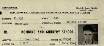 MARSHALL, Murray Gordon - Service Number 418139 | 1WAGS Ballarat