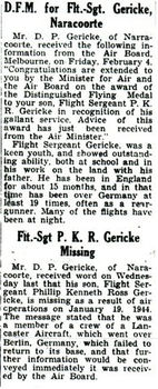 GERICKE, Philip Kenneth Ross - Service Number 417298 | 1WAGS Ballarat