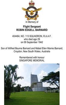 BARNARD, Robin Edgell - Service Number 404464 | 1WAGS Ballarat