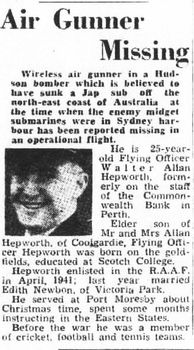 HEPWORTH, Walter Allan - Service Number 406851 | 1WAGS Ballarat