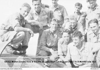 BATES, Walter Voss [Snow] - Service Number 410296 | 1WAGS Ballarat