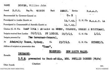 DONNER  [DFM], William John - Service Number 403026 | 1WAGS Ballarat